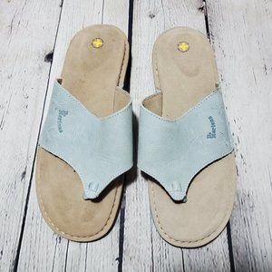 DR. MARTENS Blue Suede Thong Flip Flop Sandals 7